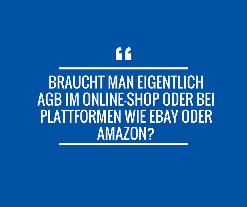 Braucht man eigentlich AGB im Online Shop oder auf Plattformen wie Ebay oder Amazon?