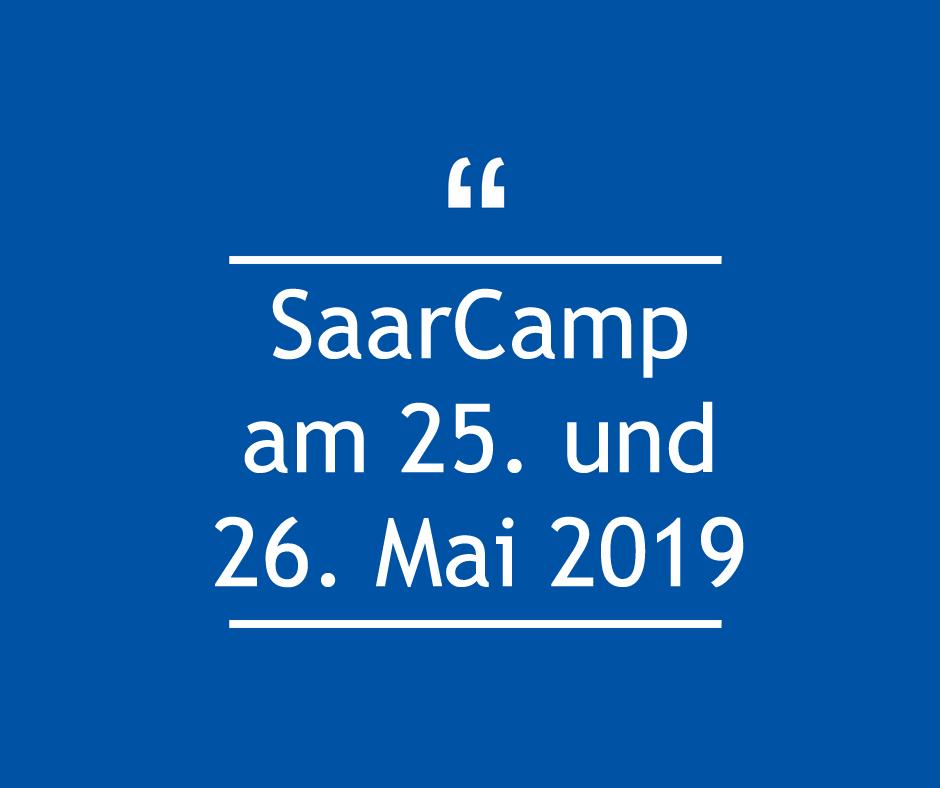 Saarcamp am 25. und 26. Mai 2019