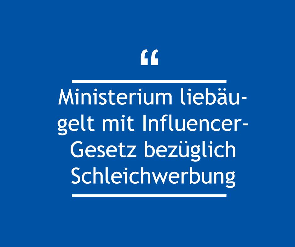 Ministerium liebäugelt mit Influencer-Gesetz