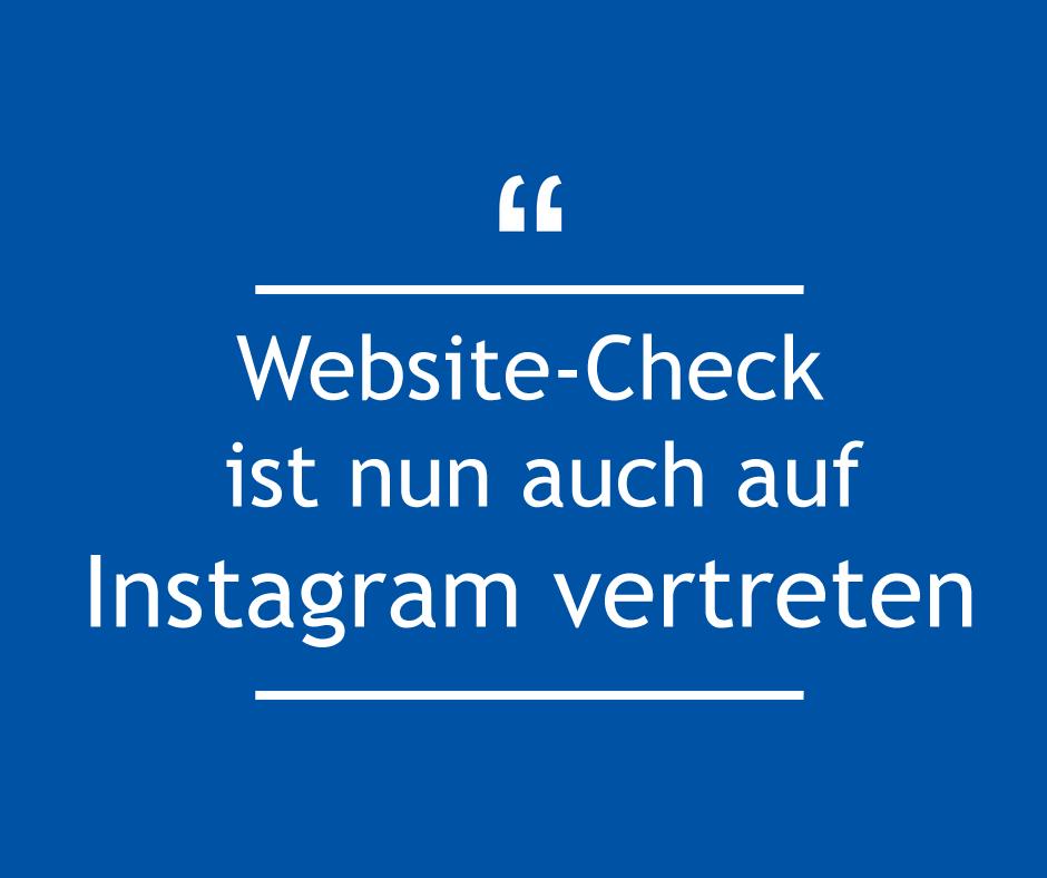 Website-Check ist nun auch auf Instagram
