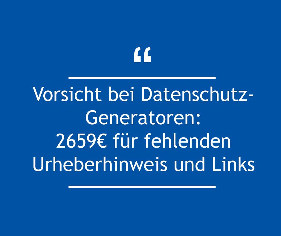 Abmahnung erhalten: Kanzlei Kuntze, Mayer und Beyer fordert für AdSimple GmbH 2.659 Euro für fehlenden Urheberhinweis und Links