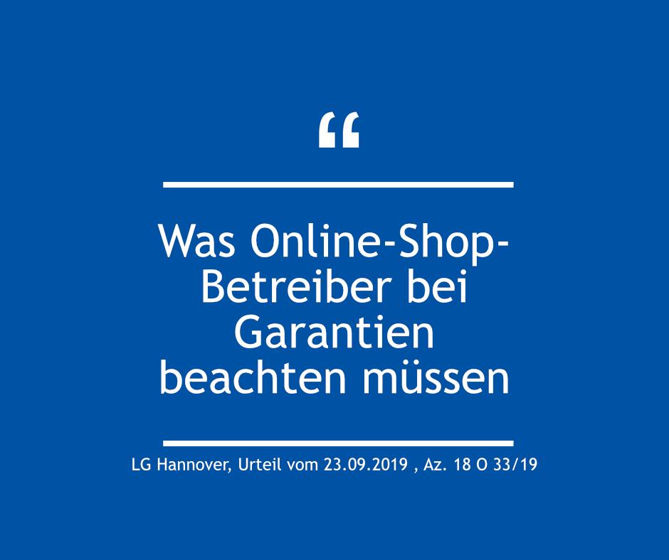 Was Online-Shop-Betreiber bei Garantien beachten müssen