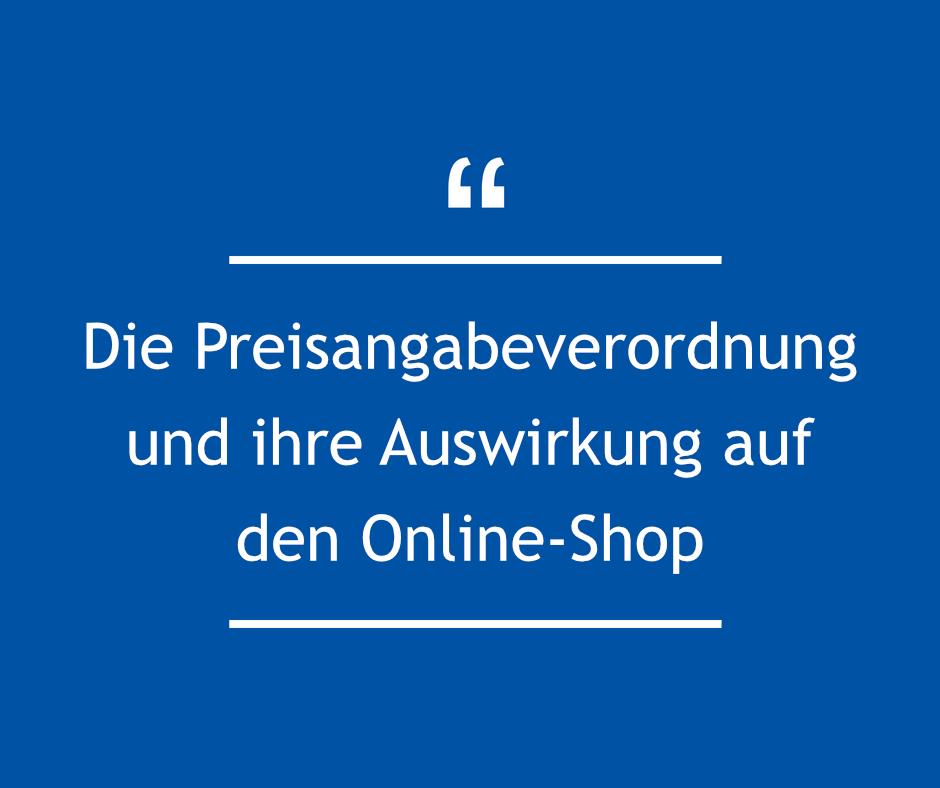Die Preisangabeverordnung (PangV) und ihre Auswirkung auf den Online-Shop
