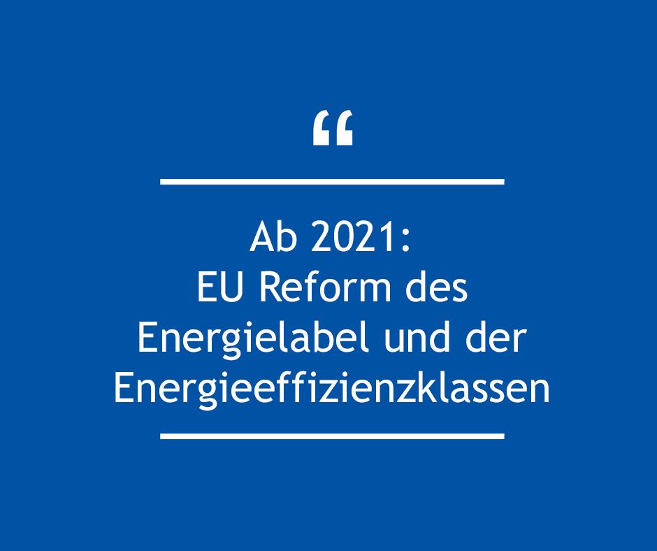 EU-Reform des Energielabel