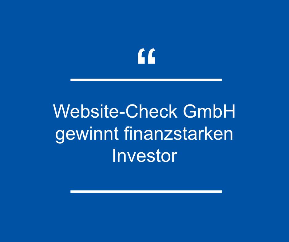 """Die Website-Check GmbH gewinnt mit der """"Saarländische Wagnisfinanzierungsgesellschaft mbH"""" (SWG) einen finanzstarken Investor"""